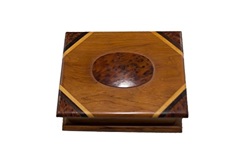 AramediA Jewelry Box Made in the Holy Land - Olive Wood Material (7'' x 2.8'' x 5.5'') by AramediA