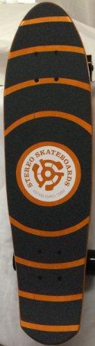 Stereo Skateboards Wooden Vinyl Cruiser Complete Skateboard Orange/ Black 27 Inch Cruiser Size: 7.25 Model #CST082 by Stereo Skateboard