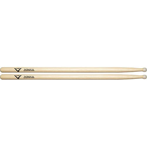 American Hickory Fatback 3A Drum Sticks Pack of 3