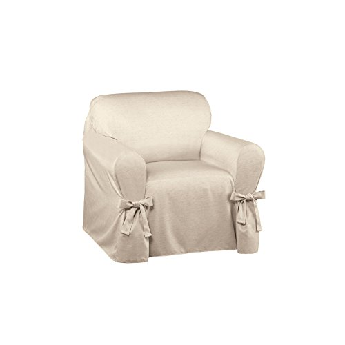 Arm Chair Box Cushion - Collections Etc Garden Retreat Slipcover by Kathy Ireland, Natural, Chair