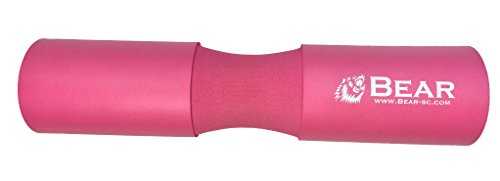 BEAR STRENGTH & CONDITIONING Next Gen. Barbell Squat Pad- Exercise Barbell Pad for Hip Thrusts, Squats and Lunges- Most Comfortable Squat Sponge ... (Pink) (Best Squat Workout For Strength)