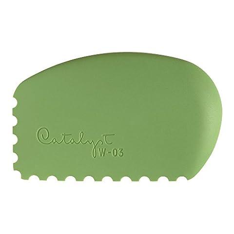 Princeton Artist Brush Catalyst Silicone Wedge Tool, Green W-03 - Encaustic Tools