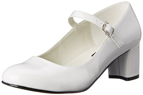 Funtasma by Pleaser Women's Schoolgirl-50 Mary Jane,White Patent,12 M US ()