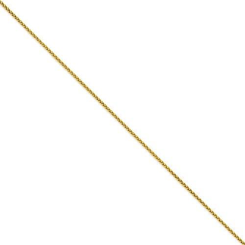 1,9mm ronde blé chaîne de cheville en or 14ct-Options: 25longueur 1820