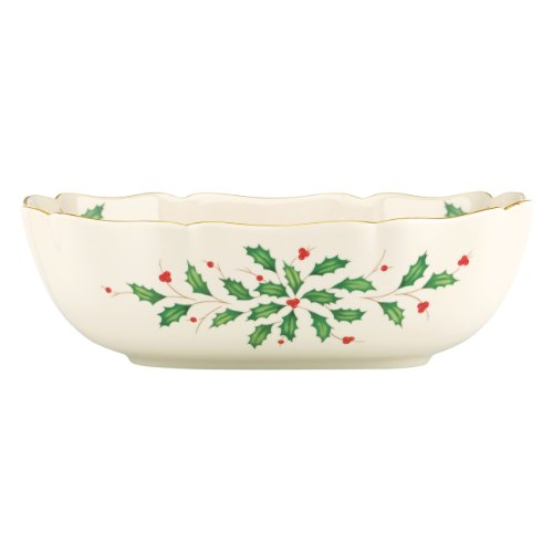 Lenox Holiday Large Fluted Bowl,Ivory