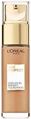 L'Oreal Paris Base de Maquillaje Piel Madura, Tono 310 Miel Rose, Age Perfect Makeup, L'Ore