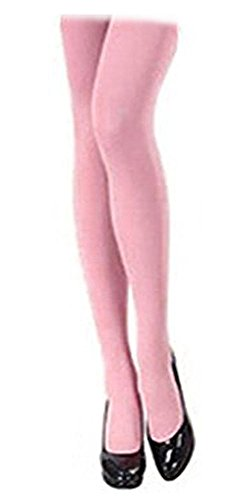 SACASUSA (TM) Sexy Stretchy Solid Color Microfiber Tights Stockings XS ~ M in Pink (Pink Spandex Sheer Stockings)