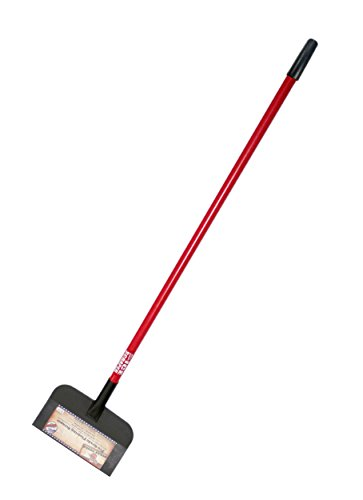 12-inch steel flooring scraper with fiberglass long handle.