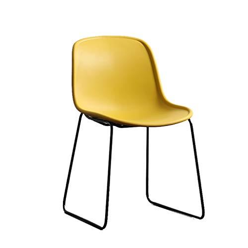 Silla del comedor TXC- Silla Respaldo Escritorio Silla Computadora del hogar Silla de Oficina Informal Durable (Color : Yellow)