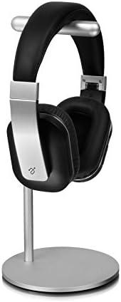 Aluratek AUHS01F Universal Headphone Stand - Earphone Hanger, On-Ear Headphone,DJ & Gaming Headsets,USB Cables, Silver, Stur