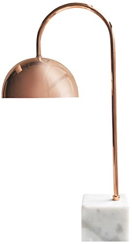 - American Atelier Desk Lamp Rose Gold Metal with Marble Base
