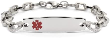 8011 – Stainless Steel Heart Link – 6 3 4 – Medical ID
