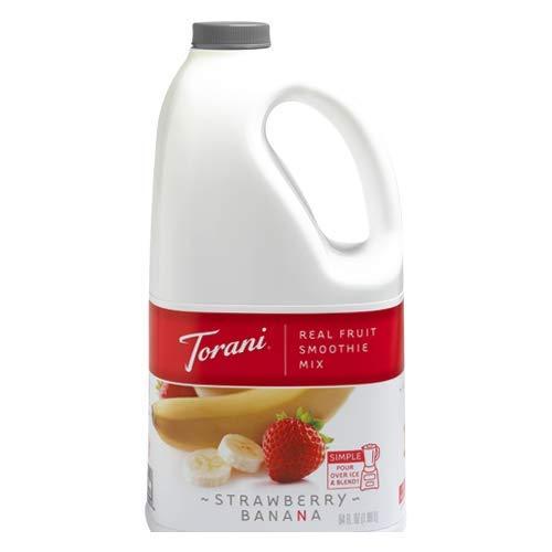 Torani Strawberry Banana Real Fruit Smoothie Mix 64 oz