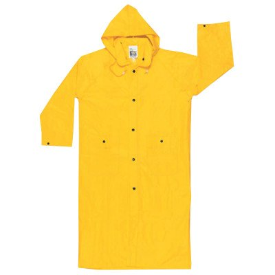 River City 611-300CX2 Wizard 0.28 mm. Pvc-Nylon Flame Coat With Detachable Hood - Yellow