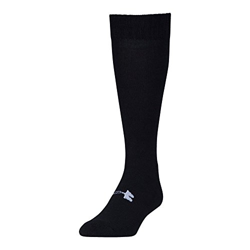 Under Armour Men's Tactical Over The Calf Sock 1-Pair, Black/White, Shoe Size: 9-12.5 (Best Combat Boot Socks)