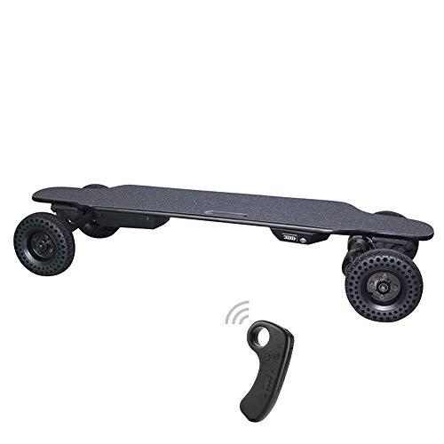Cross Skateboard - Electric Skateboard Cross-Country Longboard 8800mah Battery Life 22km Wireless Remote Control Maxfind Adult Road Scooter 39'' 12.4'' 8.5'',Black