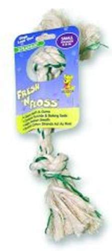 Aspen/Booda Corporation DBX52301 Fresh and Floss 2-Knot Spearmint Toy for Pets, Small