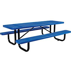 Amazoncom Rectangular Picnic Table Perforated Blue Long - 96 picnic table