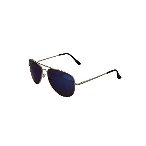 étui homme de UV400 Motif dégradé Lunettes tissu unisexes Mirror amp; en Fashionldn avec argenté Blue ® Noir doré soleil aviateur pour qXXzwUPxI