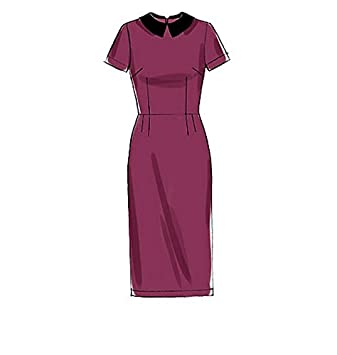 McCalls Patterns 7279 OS,Misses Dresses and Optional Collar,Sizes 6-22