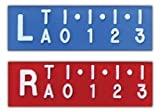 Quick Ship X-Ray Digital Ruler Markers - 3cm Ruler, Personalize with 2-3 Initials, Horizontal, Ships Within 3
