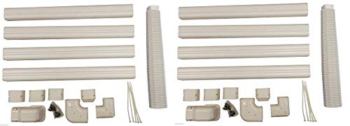 Decorative PVC Line Cover Kit for Mini Split Air Conditioners and Heat Pumps (2-(Pack))