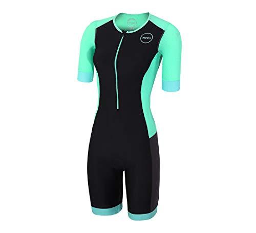 (Zone3 Women's Aquaflo Plus Short Sleeve Tri Suit (Medium))