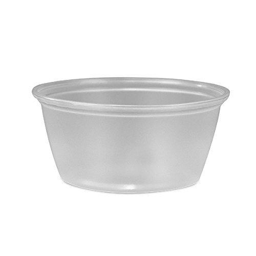 (PROPAK 200 Count Durable Translucent Plastic Cups - Shot, Jello, Soufflé, Portion Disposable Cups (3.25 oz) CUPS ONLY)