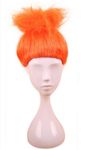Troll Wigs (Longlove Cosplay Wig Halloween Fluffy Wigs Children Troll Flame Magic Fantasy Party Wig (orange))