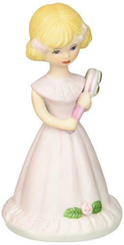 "Enesco Growing Up Girls ""Blonde Age 5"" Porcelain Figurine, 4"" (Porcelain 4 Age Figurine)"