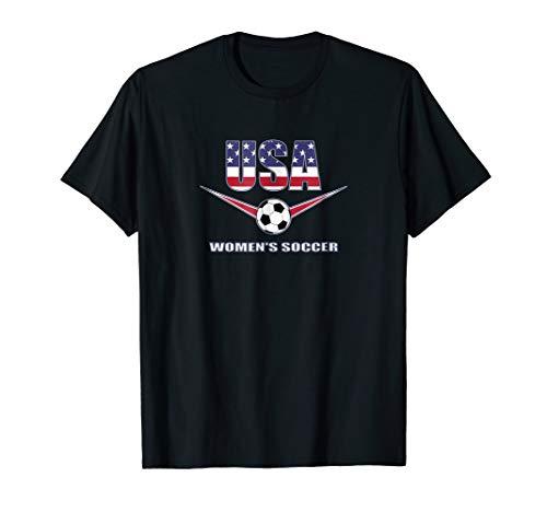 USA United States Women's 2019 T Shirt Soccer US Futbol ()