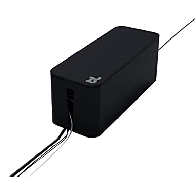 Bluelounge CableBox - Black - Cable Management 15.6 X 5.7 inches