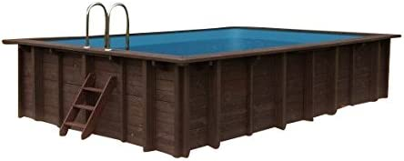 Piscina Summer Oasis, Jardín Piscina de y 96188, madera, rectangular piscina, 6,00x 4,19x 1,31M, Bomba, Pool Escalera, Skimmer