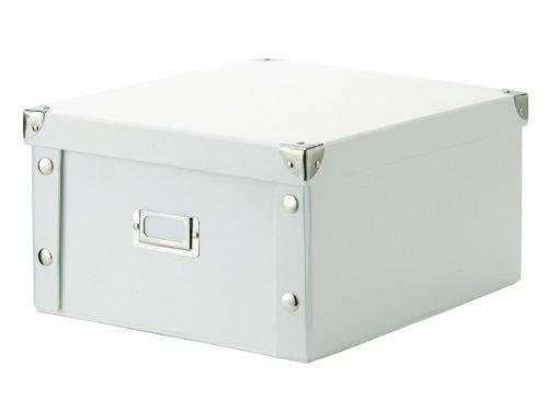 Zeller 17763 Aufbewahrungsbox, Pappe / 31 x 26 x 14, weiß
