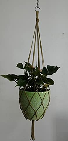 8 Legs Net Macrame Nylon Rope Plant Holders in Coffee Color, 34-inches ,Also Can Used It As a Basketball Holder