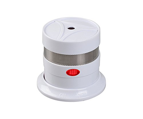 10 Year Battery Operated Mini Smoke Detector & Fire Alarm with Photoelectric Sensor, Travel Portable Lithium Micro Compact Smoke ()