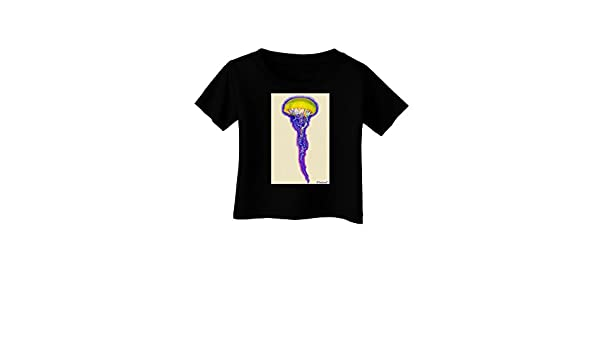 TooLoud Jellyfish Outlined in Purple Watercolor Infant T-Shirt Dark