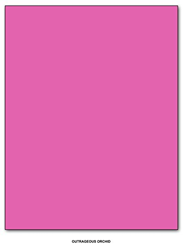 Outrageous Orchid (Neenah Astrobrights Premium Color Card Stock, Paper 65 Lb Cover / Cardstock - 50 Sheets Per Pack (8.5 x11, Outrageous Orchid))