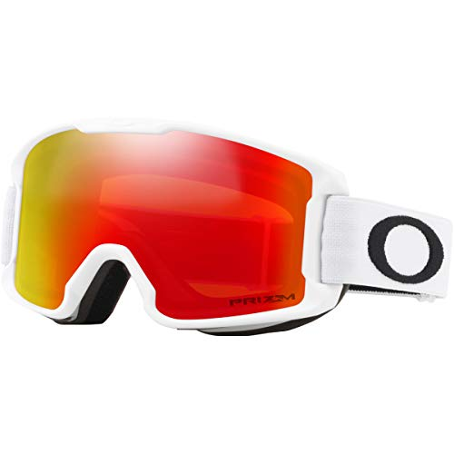 Oakley Line Miner Youth Snow Goggle, Matte White, Small, Prizm Torch Iridium Lens (Youth Ski Goggles Oakley)