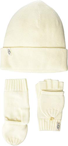 Used, UGG Kids Baby Girl's Knit Hat and Flip Mitt Gift Set for sale  Delivered anywhere in USA