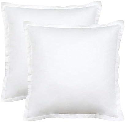 Seepong Funda de Almohada Diseño Vintage 100% Funda de Almohada de algodón Cojines de cojín Blanco Puro 2 Piezas 45x45cm: Amazon.es: Hogar