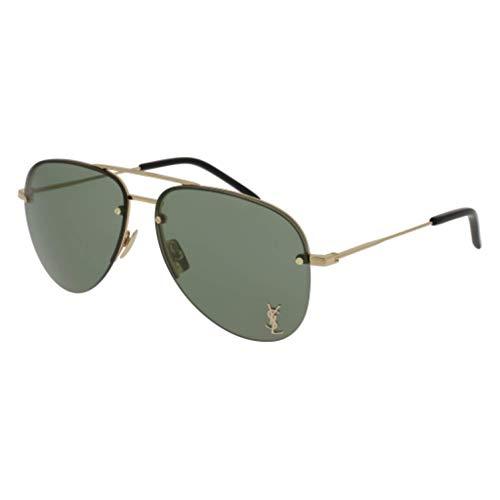 (Saint Laurent Classic 11M 003 Gold Classic 11M Pilot Sunglasses Lens Category 3)