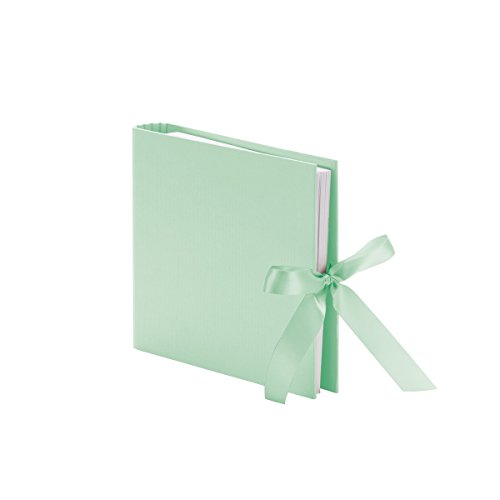 (Rössler 13161147656 - Spiral Bound Photo Album with Ribbons (50 refillable White Pages, 25 Sheets, 23 x 21 cm) - Mint)