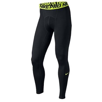 b2d939c8728c5 Amazon.com: Nike Pro Men's Training Tights Black/Lime: Sports & Outdoors