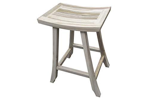 Fine Ecodecors Coastal Vogue Satori Teak Indoor Outdoor Bar Stool 30 Inch Height Driftwood Bralicious Painted Fabric Chair Ideas Braliciousco