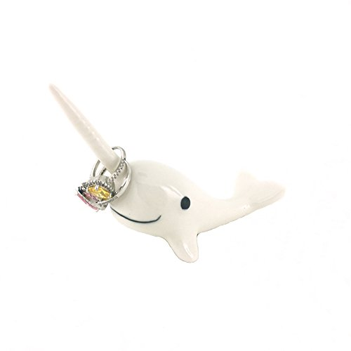 Adorable-Ceramic-Narwhal-Ring-HolderEngagement-Ring-and-Wedding-Ring-Display-Holder-Stand