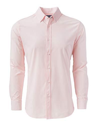 - Mizzen + Main Button Down Shirts for Men | Slim Fit Stretch Dress Shirt | Moisture Wicking | Non-Iron | Buchanan - Large