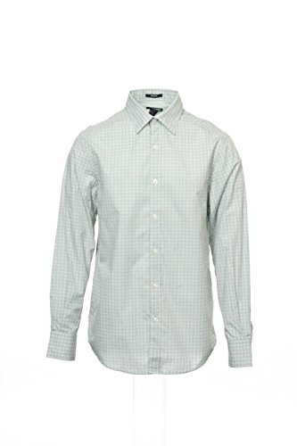 Claiborne Long Sleeve Shirt White/Green M