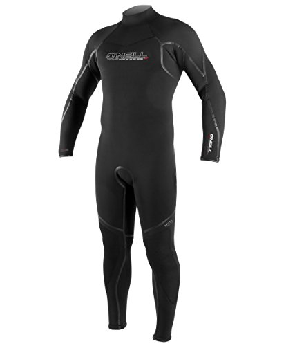 (O'Neill Men's Dive Sector 5mm Back Zip Full Wetsuit, Black, Large)