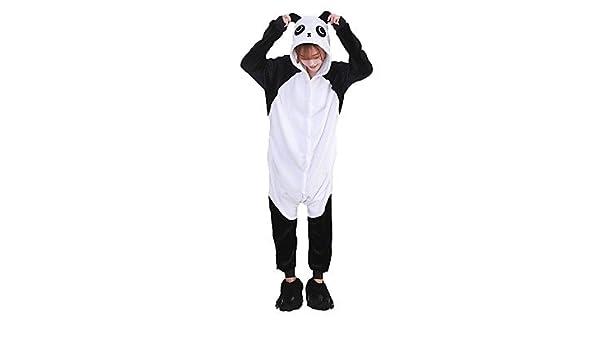 f98d3749b3 Pijamas Oso Panda Leotardo Pijama Mono Zapatos Festival Celebración Ropa de  Noche de los Animales Halloween Moda Bordado Franela